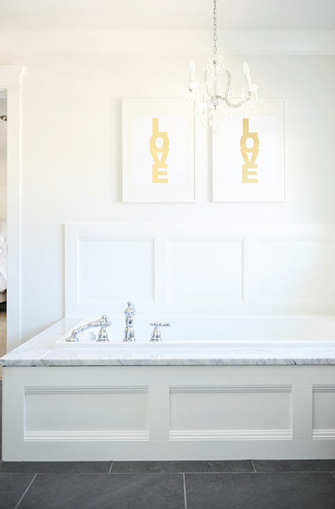 Bathtub Wainscoting Transitional Bathroom Style At Home