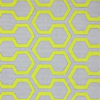 Rugs - Knob 100% Wool Area Rug in Green design by NuLoom I Burke Decor - gray and yellow geometric rug, gray and yellow contemporary rug, gray and yellow honeycomb rug,