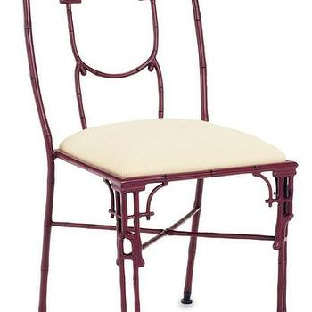 Seating - Dynasty II Chair design by Currey & Company - oxblood chair, aluminium bamboo chair, faux bamboo style chair, oxblood bamboo chair, aluminium asian style chair, metal asian style chair,