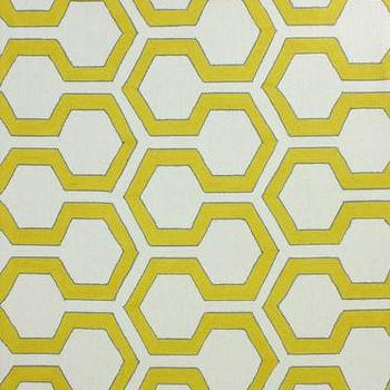 Rugs - Knob 100% Wool Area Rug in Sunflower design by NuLoom I Burke Decor - yellow and white geometric rug, yellow and white contemporary rug, yellow and white honeycomb rug,