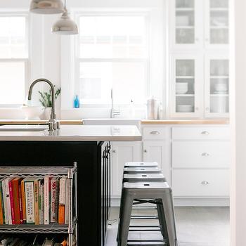 Grey subway tiles contemporary kitchen martha o 39 hara for Ikea backless bookcase