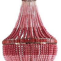 Lighting - Flamingo Chandelier Marjorie Skouras Collection Currey & Company I Burke Decor - beaded pink chandelier, ombre pink chandelier, ombre pink beaded chandelier,