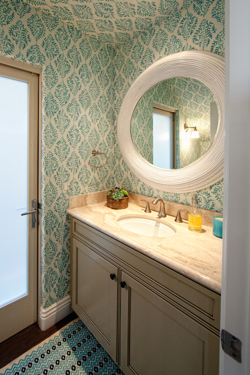 Galbraith And Paul Wallpaper Transitional Bathroom