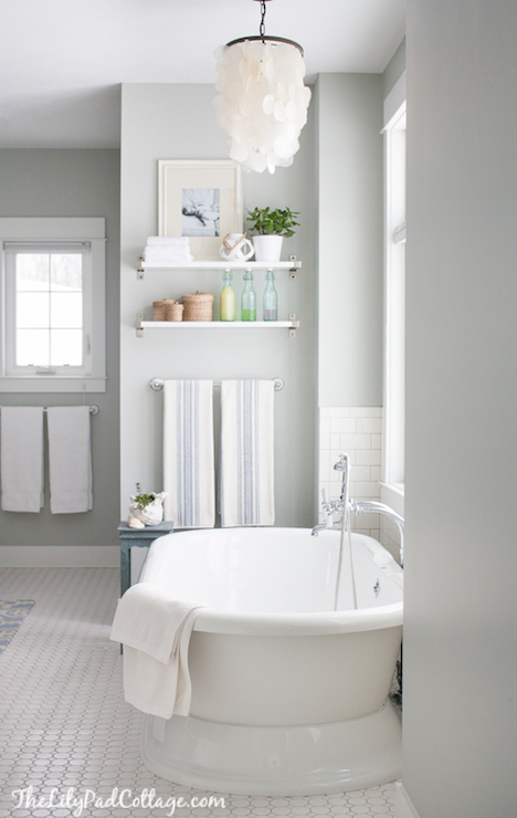 Arctic Gray Cottage Bathroom Benjamin Moore Arctic
