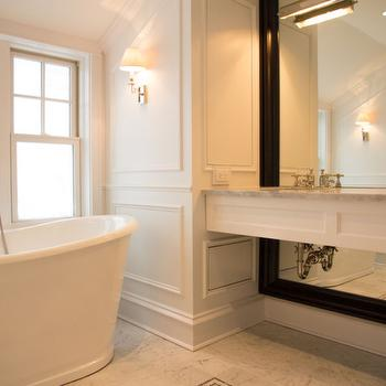 Full Wall Mirror, Transitional, bathroom, Scott Lyon & Company