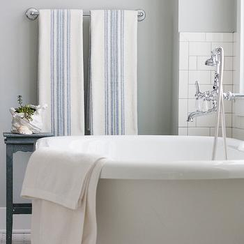 Arctic Gray, Cottage, bathroom, Benjamin Moore Arctic Gray, The Lily Pad Cottage