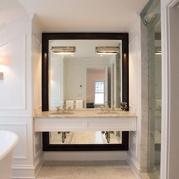 Floating Double Washstand, Transitional, bathroom, Scott Lyon & Company