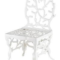 Seating - Corail Accent Chair in White design by Currey & Company I Burke Decor - white coral chair, white coral accent chair, white coral dining chair,