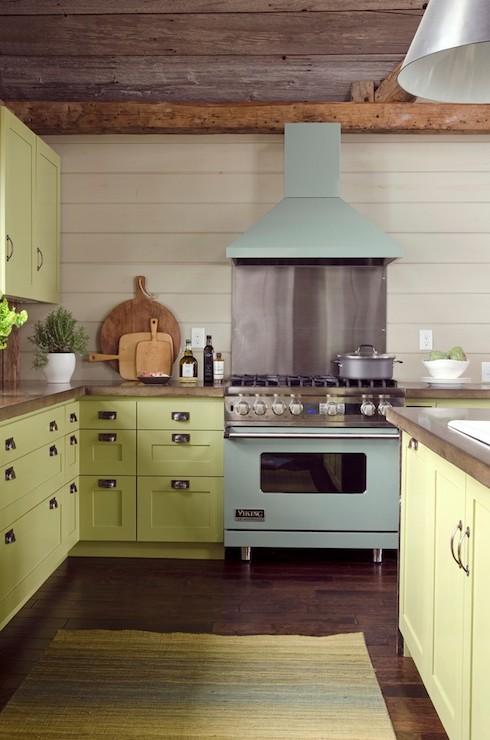 Green Kitchen Cabinets  Country  kitchen  Valspar La Fonda Olive
