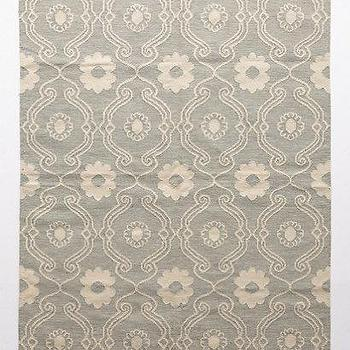 Rugs - French Quartier Flatwoven Rug I anthropologie.com - gray and ivory floral rug, gray and ivory woven rug, gray and ivory flatwoven rug, gray and ivory floral motif rug,