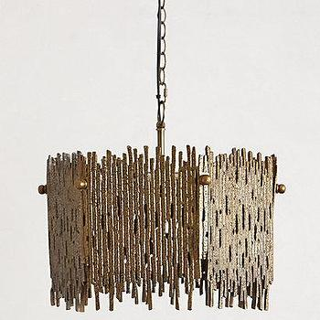 Lighting - Gleaming Branches Chandelier I anthropologie.com - brown branch chandelier, modern brown chandelier, textured brown chandelier,