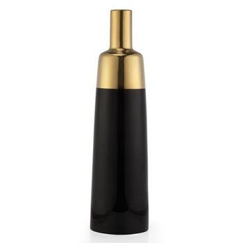 Decor/Accessories - Urbane Vase | Z Gallerie - black and gold vase, black vase with gold top, black and gold banded vase, matte black and metallic gold vase,