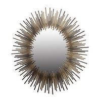 Mirrors - Oval Gold and Silver Iron Mirror | Overstock.com - modern silver and gold mirror, oval silver and gold sunburst mirror, contemporary oval silver and gold mirror,
