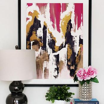Art/Wall Decor - Arctic Kiss | Cozamia - pink dark blue and gold abstract art, pink dark blue  and gold wall art, pink dark blue and gold abstract print,