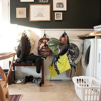 Half Paneled Walls, Transitional, laundry room, House Tweaking