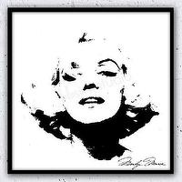 Art/Wall Decor - Wall Decor Home Decor Marilyn Monroe Marilyn by lulusimonSTUDIO I Etsy - black and white marilyn monroe art, black and white marilyn monroe art print, black and white marilyn monroe silhouette print,