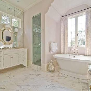 Arched Bathtub Nook, Transitional, bathroom, Pricey Pads
