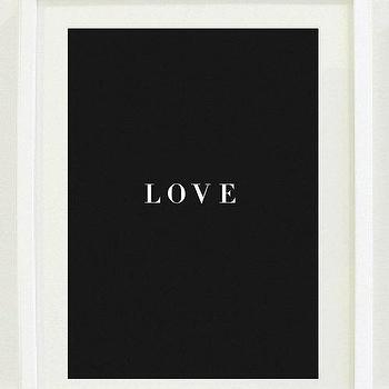 Art/Wall Decor - Print Inspirational 8 X 10 Love Office Decor by designsbymariainc I Etsy - black and white love art print, black and white love wall art, black and white love typographic print,