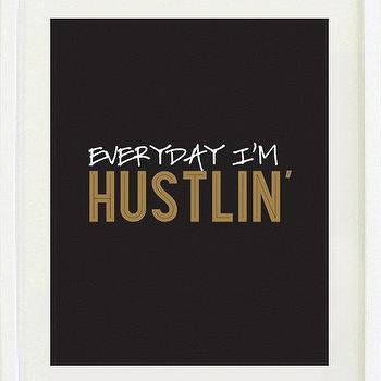Art/Wall Decor - Print Inspirational 8 X 10 Everyday I'm by designsbymariainc I Etsy - everyday i'm hustlin' art print, everyday i'm hustlin' wall art, black white and gold everyday i'm hustlin' wall decor,