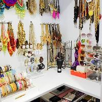 Kryz Uy - closets - jewelry display in closet, jewelry closet organization, jewelry organizer, wall hooks for jewelry, wall hooks for necklaces, necklace display, bracelet display, bracelet organizer, acrylic watch holder, acrylic watch display, acrylic sunglasses display, acrylic sunglasses drawer, displaying sunglasses, displaying jewelry in closet, jewelry display, jewelry drawers, slim jewelry drawers, jewelry closet,