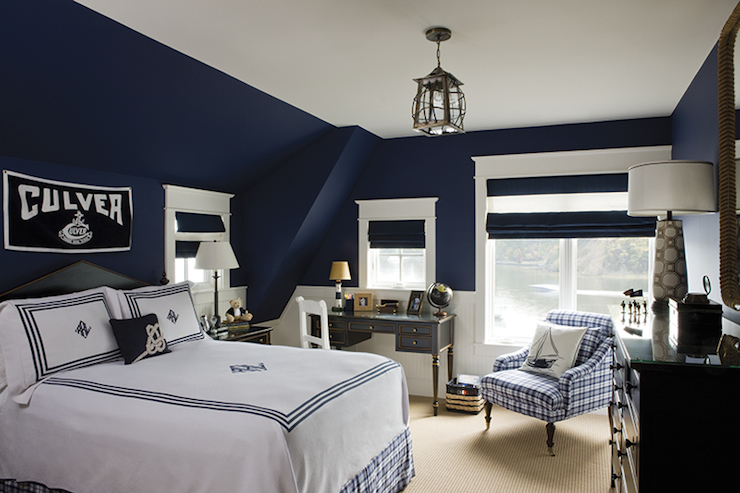 Navy Boys Room Cottage Boys Chesapeake Home