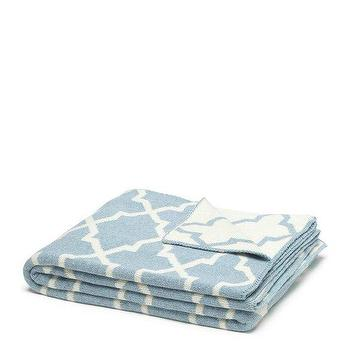 Decor/Accessories - in2green Reversible Morocco Throw Blue Pond | BLUEFLY - blue and white moroccan throw blanket, sky blue and white moroccan throw blanket, blue and white reversible moroccan throw blanket,