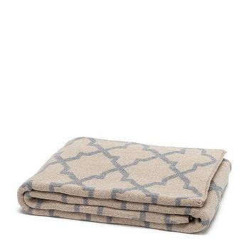 Decor/Accessories - in2green Reversible Morocco Throw Flax & Aluminum | BLUEFLY - beige and gray moroccan throw blanket, sand and gray moroccan throw blanket, reversible gray and beige moroccan throw blanket,
