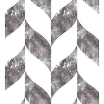 Wallpaper - Swag Paper DISTRESSED CHEVRON LARGE PRINT | BLUEFLY - distressed chevron patterned wallpaper, geometric temporary wallpaper, geometric removable wallpaper, distressed chevron removable wallpaper,