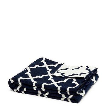Decor/Accessories - in2green Reversible Morocco Throw Mik & Marine | BLUEFLY - navy and white moroccan throw blanket, navy and white reversible moroccan throw blanket, dark blue and white moroccan throw blanket,