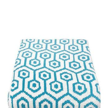 Decor/Accessories - in2green Geo Throw Aqua | BLUEFLY - aqua and white geometric throw blanket, turquoise and white geometric throw blanket, modern turquoise and white throw blanket, turquoise and white honeycomb patterned throw blanket,