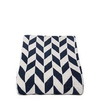 Decor/Accessories - in2green Chevron Throw Marine | BLUEFLY - navy and white chevron throw blanket, navy and white geometric throw blanket, navy and white chevron arrow throw blanket,
