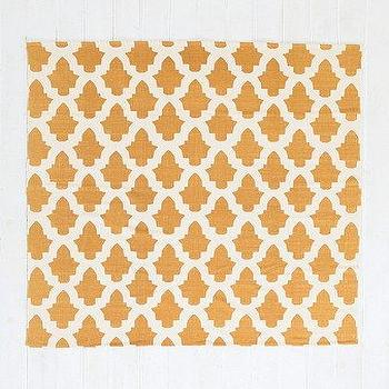 Rugs - Magical Thinking Flourish Tile Handmade Rug I Urban Outfitters - gold ad white tiled rug, gold and white geometric rug, gold and white tile motif rug,