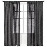 Window Treatments - Nate Berkus Tweed Window Panel I Target - dark gray window panel, dark gray tweed window panel, dark gray tweed drapes,