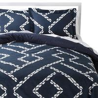 Bedding - Nate Berkus Harbor Comforter Set I Target - navy and white geometric duvet set, navy and white nautical bedding, navy and white nautical duvet set,