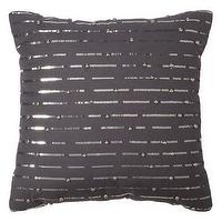 Pillows - Nate Berkus Sequins Decorative Pillow I Target - charcoal gray sequinned pillow, dark gray sequinned pillow, dark gray pillow with silver sequins,
