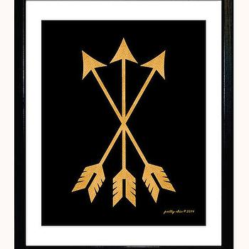 Art/Wall Decor - Gold Arrow Set Print Arrows Metallic Gold Look by prettychicsf I Etsy - black and gold arrow art print, metallic gold arrow art print, black and gold arrow wall decor,