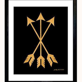 Gold Arrow Set Print Arrows Metallic Gold Look by prettychicsf I Etsy