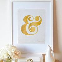 Art/Wall Decor - Ampersand Art Print & Artwork Typography Wall by prettychicsf I Etsy - gold ampersand wall art, gold ampersand wall decor, matte gold ampersand art print,