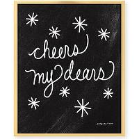Art/Wall Decor - Cheers My Dears Print Celebrate Bar Cart Bar by prettychicsf I Etsy - cheers my dears black and white art print, cheers my dears chalkboard art print, black and white cheers my dears wall decor,