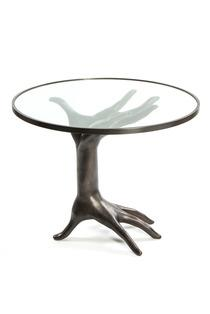 Tables - DICHOTOMY BRONZE TABLE I Kelly Wearstler - bronze hand table, bronze double hand table, bronze table with hand shaped base,