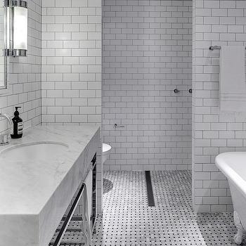 Bathroom Subway Tiles, Modern, bathroom, Tania Handelsmann