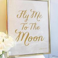 Art/Wall Decor - Fly Me To The Moon Art Print LOVE Gold Frank by prettychicsf I Etsy - fly me to the moon gold art print, fly me to the moon quote art print, fly me to the moon gold wall art,
