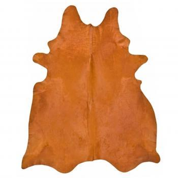 Rugs - Orange Hide | Pieces - orange hide rug, orange cowhide rug, orange dyed cowhide,