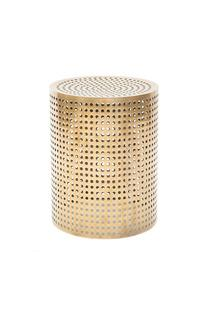Seating - PERFORATED BRONZE STOOL I Kelly Wearstler - modern bronze stool, pierced bronze stool, perforated bronze stool, polished bronze stool,