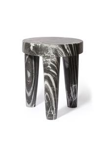 Seating - TRIBUTE STOOL I Kelly Wearstler - gray marble stool, marble tripod stool, modern gray marble stool,