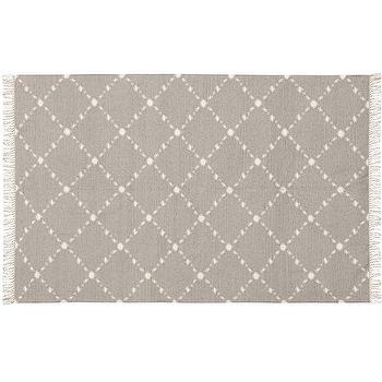 Rugs - Dot 'N Dash Indoor/Outdoor Rug - Gray | Pottery Barn - gray and white lattice rug, gray and white latticework rug, gray and white lattice dot rug, gray and white lattice indoor outdoor rug, gray and white geometric indoor outdoor rug,