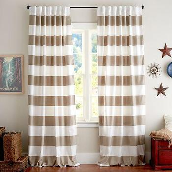 PB Classic Stripe Drape, Set of 2, Pottery Barn