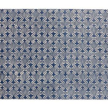 Rugs - Lizzie Rug - Twilight Blue | Pottery Barn - blue and white ikat rug, blue and white geometric ikat rug, navy blue ikat rug,