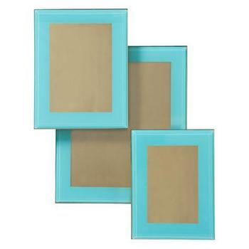 Art/Wall Decor - Taylor Frame | Z Gallerie - aquamarine frame, aquamarine photo frame, contemporary aquamarine frame,