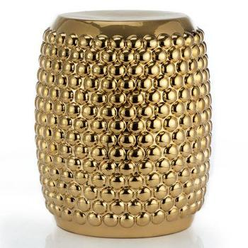 Tables - Madison Stool | Z Gallerie - metallic gold stool, metallic gold bubble stool, metallic gold garden stool,